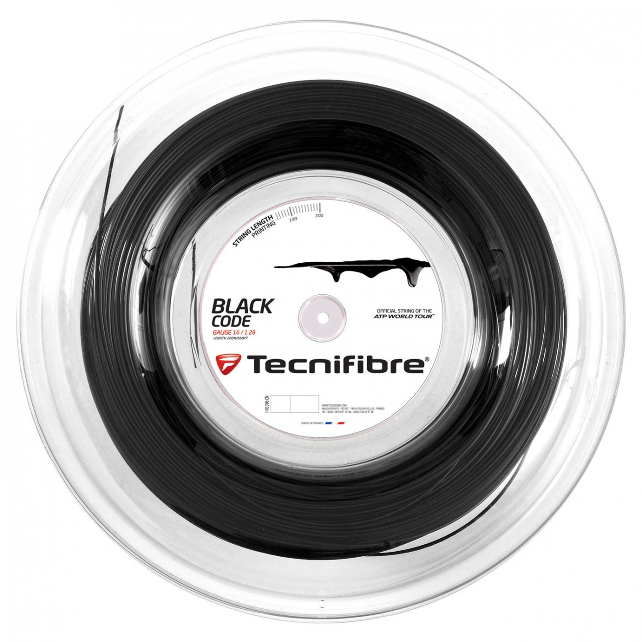 גידים למחבט Tecnifibre Black Code 16 1.28mm 200M Reel